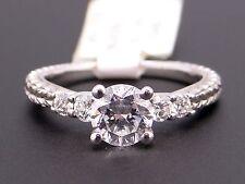 Scott Kay Platinum Round Diamond Engagement Promise Ring M1143 Semi Mounting