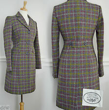 LAURA ASHLEY tweed FROCK spring coat DOWNTON ABBEY edwardian check plaid 20 22