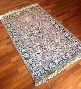 """"""" Antique """" 1960's Persian Tabrize handwoven rug, pure silk on wool, 500+ KPSI"""