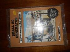 NOS Intertec Small AC Generator 2nd Edition Service Repair Manual 0-87288-227-6