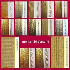nur 1x € -,85 Versand !!! Stickerbogen - Bordüren und Linien - große Auswahl