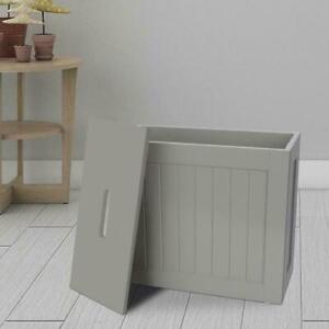 NEW WOODEN GREY SLIM BATHROOM STORAGE UNIT LAUNDRY CLEANING STORAGE UNIT
