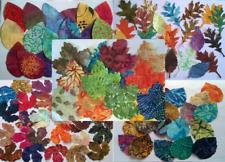 Mixed Batik Leaves Fabric Pack remnants patchwork bundles 100% cotton