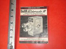 BA718 Vintage DeJUR Eldorado II Movie Camera Guide