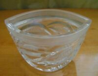 Vintage Soviet Russian Crystal Glass Boat Shaped Candy Bowl Dish