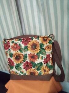 Sun Flower's  Quilted Crossbody Bag