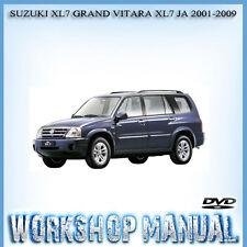 SUZUKI XL7 GRAND VITARA XL7 JA 2001-2009 WORKSHOP REPAIR SERVICE MANUAL IN DISC
