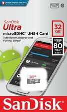 SanDisk 32GB microSD Ultra SDSQUNS-032G UHS-I C10 Micro SD SDHC For Smartphones