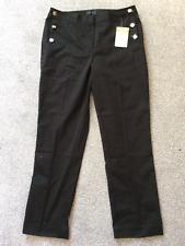 Creation L @ kaleidoscope size 12 petite black slim leg cropped TROUSERS £85