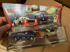 Disney Pixar Cars 2 Brent Mustangburger & Darrell Cartrip Exclusive Vehicle Rare