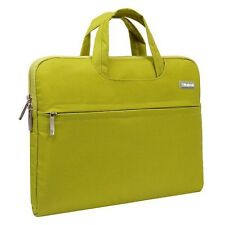 "Laptop Macbook Case 11"" in Green Protective Carry case lots of Storage"