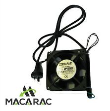 120mm X 38mm 240Vac FAN / inc 240v LEAD AND PLUG)TWINPACK