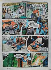 JACK KIRBY Joe Simon CAPTAIN AMERICA #10 pg 21 HAND COLORED ART Theakston 1989 Comic Art