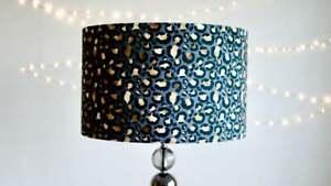 Velvet Leopard Print Lampshade 30cm 40cm Drum Lamp shade - Animal Print - Velvet