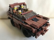 original LEGO NEW PARTS - 4 soldiers + armoured car - my design - custom weapon