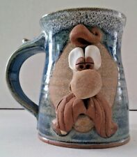 "Vintage~WAGNER STONEWARE~""YOSEMITE SAM"" Hand Crafted Coffee Mug ~3D ~ Pottery"
