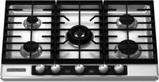 "Kitchenaid KFGU706VSS Architect II 30"" Stainless 5 Burner Gas Cooktop NEW DEAL!"
