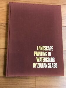 VINTAGE Landscape Painting In Watercolor By Zoltan Szabo Artist Hardcover Book