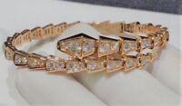 Estate Serpenti Bracelet Set in 18k Rose Gold Finish 3.00Ct Round Cut Diamond
