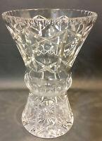 "ABP American Brilliant Period Cut Crystal Heavy Vase Cross & Olive~ 10 1/4"" tall"