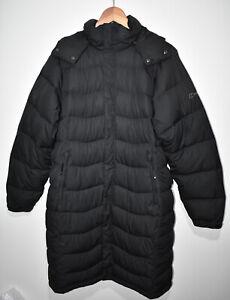 Berghaus Hydrodown 600 Filled Womens Long Hooded Puffer Jacket Coat UK 14Black