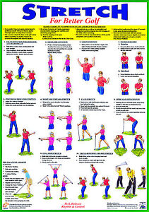 Golf exercise Poster Golf Warm Up Training Chart
