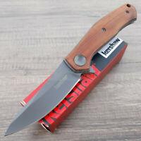 """Kershaw Concierge Folding Knife 3.25"""" 8Cr13MoV Steel Blade Brown Wood Handle"""