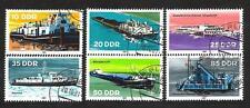 Bateaux Allemagne de l'Est (103) série complète de 6 timbres oblitérés