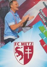 FCM-01 LOGO ECUSSON - CARTIER # FC.METZ CARD ADRENALYN FOOT 2015 PANINI