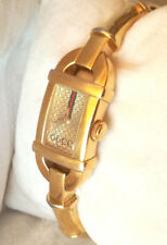 GUCCI 6800L BAMBUS Spangen Uhr / Gold-tone Bamboo ladies watch