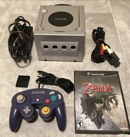 Nintendo GameCube Silver Console With Zelda Twilight Princess And Controller
