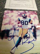 Isaac Bruce #80 Autograph 8x10 Photo Authentic St Louis Rams $$ LA