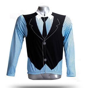 Men's Long Sleeve Cycling Jersey British Style Cycle Clothing Bike Shirts S-5XL