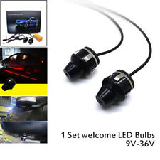 Waterproof LED Light Car Rearview Mirror Projection Lamp Door Red Light Lighting