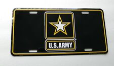 US Army Star Car License Plate 6 x 12 inches Made in the USA