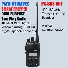 Patriotwaves PX-888 Dual Purpose SDR digital / UHF Analog Two-way radio  (SDR)