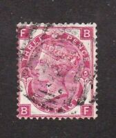 Great Britain stamp #49, used, plate 5,  SCV $62.50