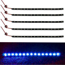 5x 15 LED 12V 30cm Car Motor Vehicle Flexible Wasserdicht Strip Light Blau