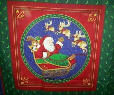 "2 Pc Set 16"" Christmas Night Santa Sleigh Reindeer Presents Accent Pillow Sham"