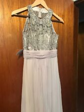 Used Eliza J Lace Bodice Gown- Beige- 4 Petite $ 248 Wedding Bridemaid 4P Dress