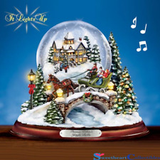 Thomas Kinkade Illuminated Musical Snow Globe New Small Bubble