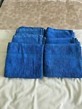6 NEW COTTON BLUE HAND TOWELS