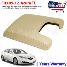 Fits 2009-2012 Acura Tl Leather Center Console Lid Armrest Cover Skin Beige Tan (Fits: Acura Tl)