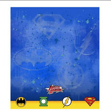 DC Comics Justice League Super Heros PLASTIC TABLE COVER Birthday Party Supplies