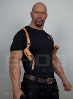 Life Size The Rock Dwayne Johnson Posing Wax Statue Movie Star Prop Display 1:1