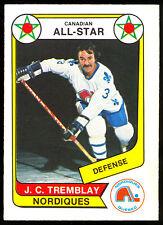 1976-77 OPC WHA O PEE CHEE #62 J C TREMBLAY NM A S QUEBEC NORDIQUES HOCKEY CARD