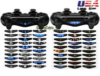 60 PCS Controller Led Light Bar Decal Stickers Skin for Playstation PS4 Pro Slim
