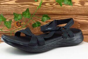 Skechers Size 9 M Black Sport Sandals Fabric Women Sandal Shoes