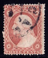 #26A - 3 Cents 1857, 15L11e, Pale Rose Brown, worn copy, Relief A, black CDS