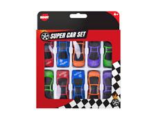 🔥10 x Childrens Mini Plastic Toy Sports Model Cars Interchangeable Racers Set
